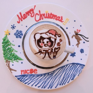 -TCK's WORK SHOP-<br>デザインカプチーノを楽しもう!<br>X'mas ver.