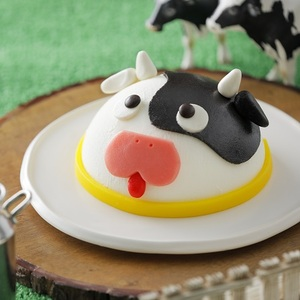 【春華堂】アイスケーキ<br>「チーキーワンワン」の姉妹商品<br>干支の丑(牛)モチーフの新作アイスケーキ