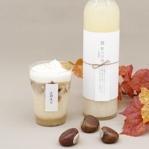 【五穀屋】<br>豆乳を使用した秋を味わう甘酒<br>吟醸麴の和栗甘酒<br>~五穀発酵茶ゼリー柚子の香り~