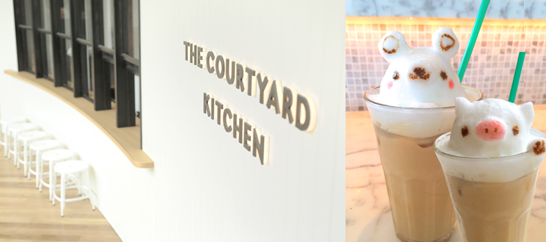 THE COURTYARD KITCHEN ラテアート